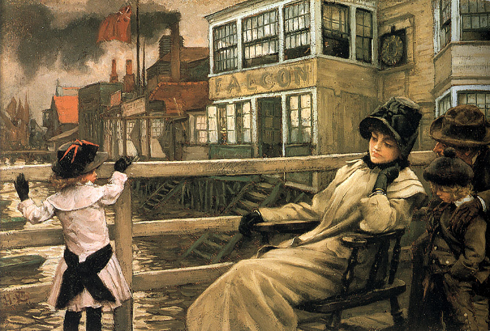 Waiting for the Ferry | Jacques Joseph Tissot | Oil Painting