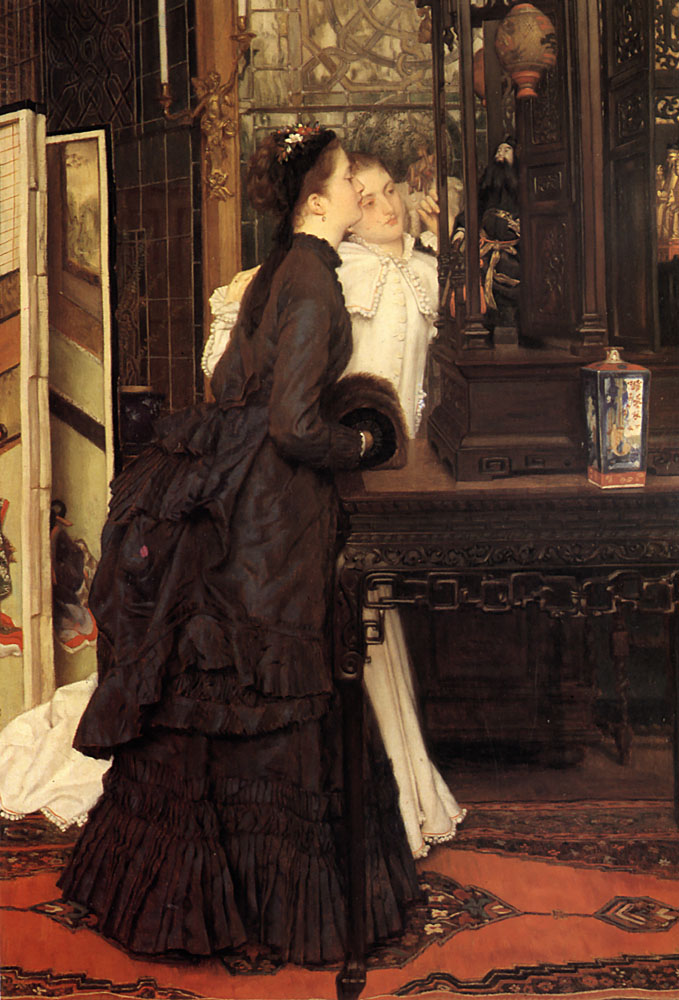 Young Ladies Looking at Japanese Objects | Jacques Joseph Tissot | Oil Painting