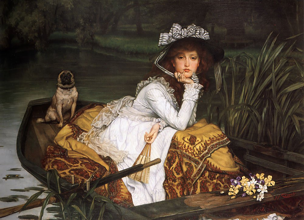 Young Lady in a Boat | Jacques Joseph Tissot | Oil Painting
