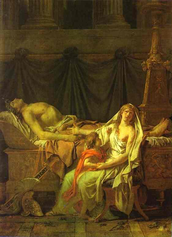 Andromache Mourning Hector 1783 | Jacques-Louis David | Oil Painting