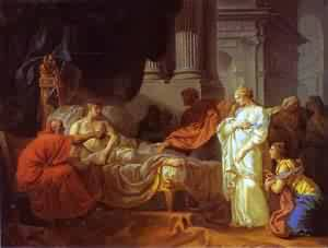 Antiochus And Stratonice 1774 | Jacques-Louis David | Oil Painting