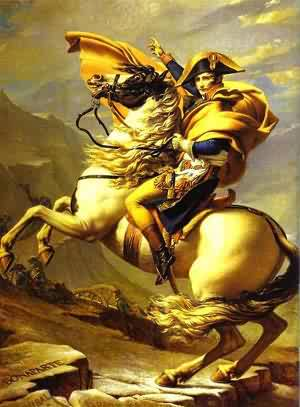 Bonaparte Crossing The St Bernard Pass 1800 | Jacques-Louis David | Oil Painting