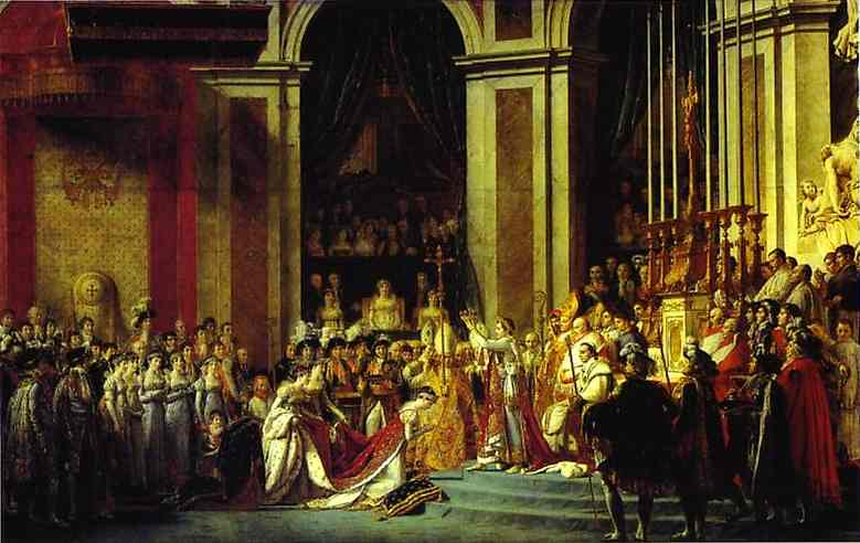 Consecration Of The Emperor Napoleon I And Coronation Of The Empress Josephine in | Jacques-Louis David | Oil Painting