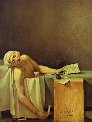 Death Of Marat 1793 | Jacques-Louis David | Oil Painting