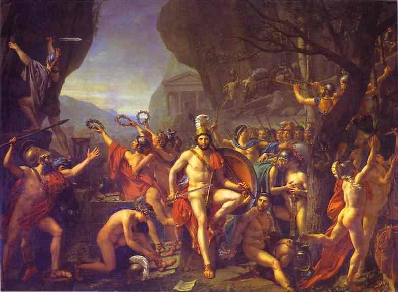 Leonidas At Thermopylae 1814 | Jacques-Louis David | Oil Painting