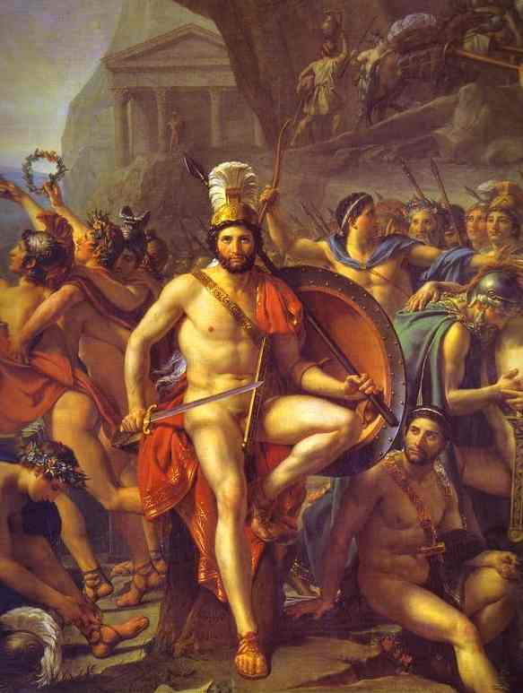 Leonidas At Thermopylae Detail 1814 | Jacques-Louis David | Oil Painting
