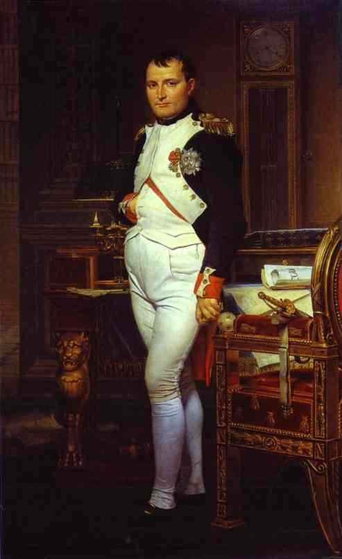 Napoleon In His Study 1812 | Jacques-Louis David | Oil Painting
