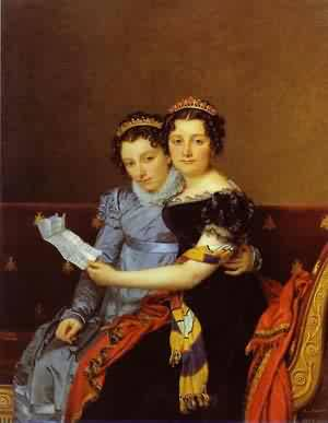 Portrait Of Charlotte And ZeNaide Bonaparte 1821 | Jacques-Louis David | Oil Painting