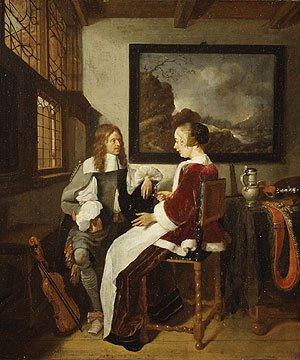 Sentimental Conversation 1660s | Quiringh Gerritsz van Brekelenkam | Oil Painting