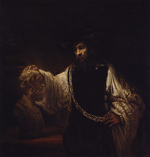 Aristotle with a Bust of Homer 1653 | Rembrandt | Oil Painting
