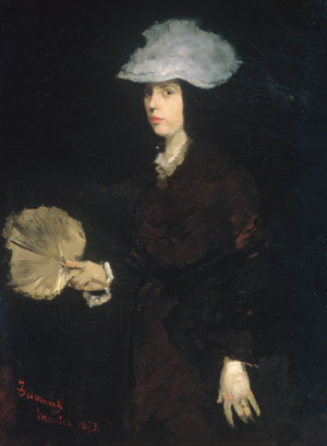 Lady with Fan 1873 | Frank Duveneck | Oil Painting