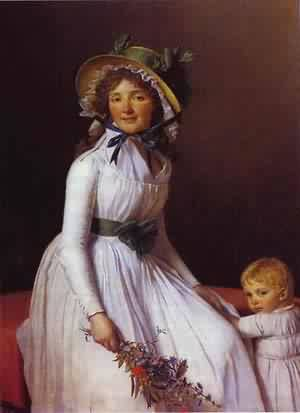 Portrait Of Emilie SeRiziat And Her Son 1795 | Jacques-Louis David | Oil Painting