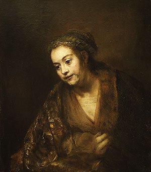 Hendrickje Stoffels 1660 | Rembrandt | Oil Painting
