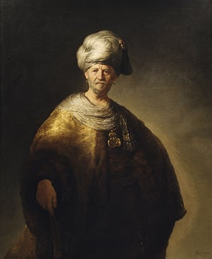 Man in Oriental Costume 1632 | Rembrandt | Oil Painting