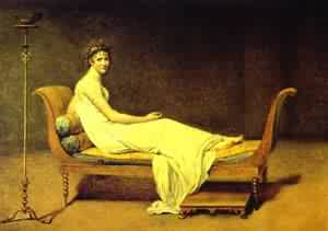 Portrait Of Mme ReCamier 1800 | Jacques-Louis David | Oil Painting