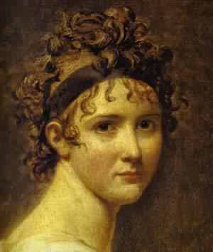 Portrait Of Mme ReCamier Detail 1800 | Jacques-Louis David | Oil Painting