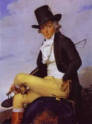 Portrait Of Pierre SeRiziat 1795 | Jacques-Louis David | Oil Painting
