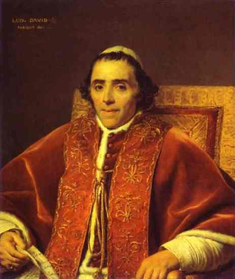 Portrait Of Pope Pius Vii 1805 | Jacques-Louis David | Oil Painting