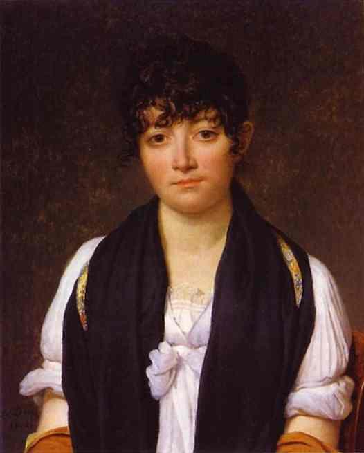 Portrait Of Suzanne Le Pelletier De Saint Fargeau 1804   Jacques-Louis David   Oil Painting