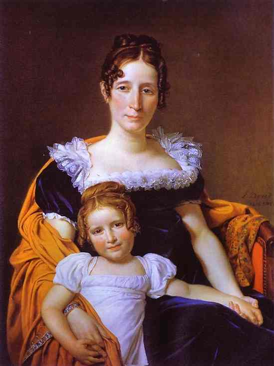 Portrait of the Countess Vilain XIIII and her Daughter 1816   Jacques-Louis David   Oil Painting
