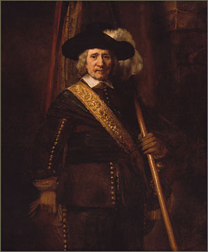 The Standard Bearer 1654 | Rembrandt | Oil Painting