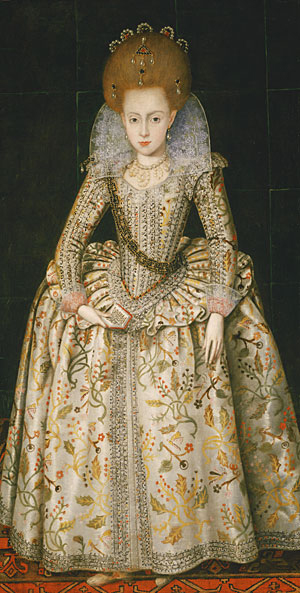 Princess Elizabeth Later Queen of Bohemia ca 1606 | Robert Peake the Elder | Oil Painting