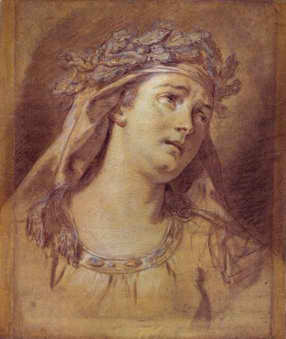 Sorrow 1773 | Jacques-Louis David | Oil Painting