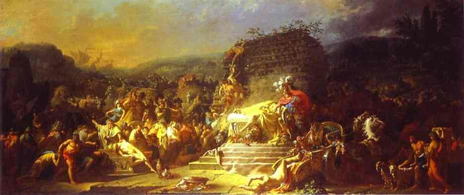 The Funeral Of Patroclus 1778 | Jacques-Louis David | Oil Painting