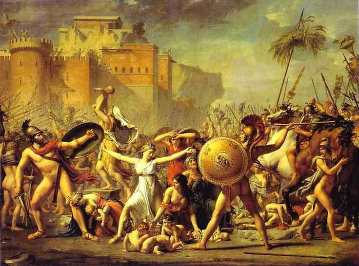 The Intervention Of The Sabine Women 1799 | Jacques-Louis David | Oil Painting