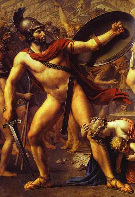 The Intervention Of The Sabine Women Detail 1 1799 | Jacques-Louis David | Oil Painting