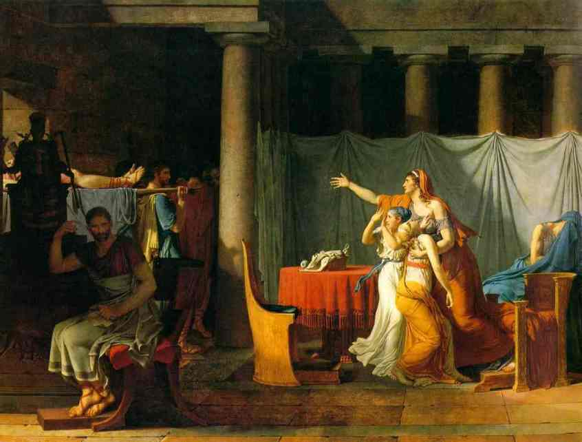 the lictors returning to brutus the bodies of his sons 1789 | Jacques-Louis David | Oil Painting