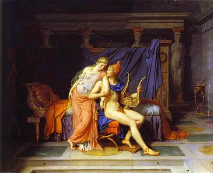 The Love Of Paris And Helen 1788 | Jacques-Louis David | Oil Painting