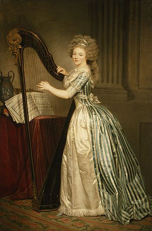 Self portrait with a Harp | Rose Adelaide Ducreux | Oil Painting