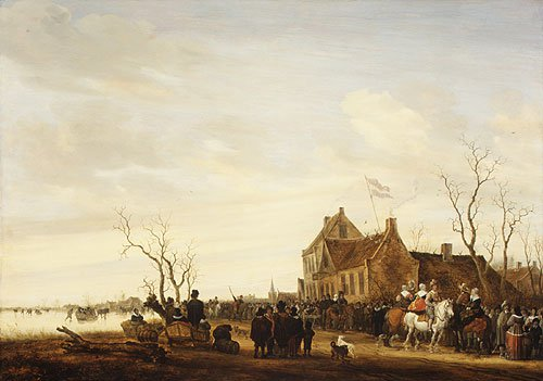 Drawing the Eel 1650s | Salomon van Ruysdael | Oil Painting