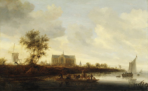 View of the Town of Alkmaar | Salomon van Ruysdael | Oil Painting