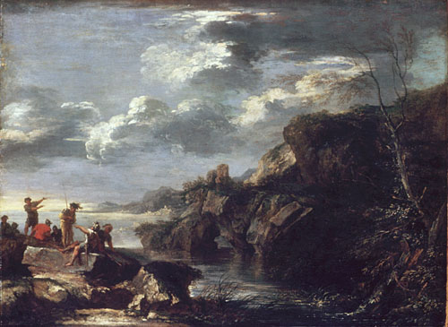 Bandits on a Rocky Coast | Salvator Rosa | Oil Painting