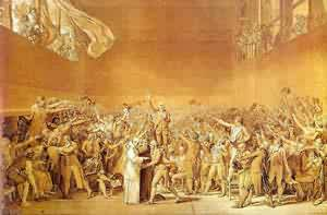 The Oath Of The Tennis Court 1791 | Jacques-Louis David | Oil Painting
