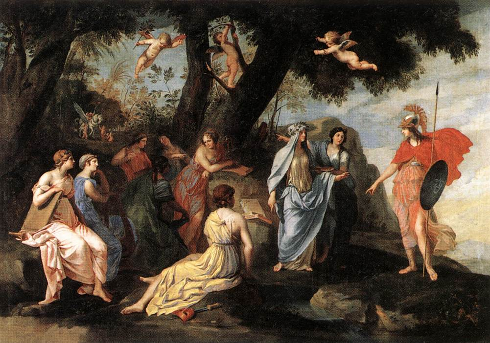 Minerva and the Muses 1640-45 | Jacques Stella | Oil Painting