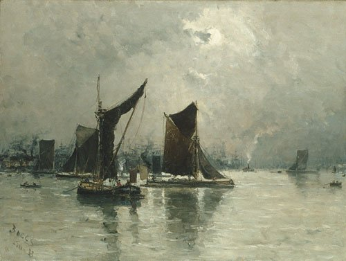 On the Thames 1883 | Frank Myers Boggs | Oil Painting