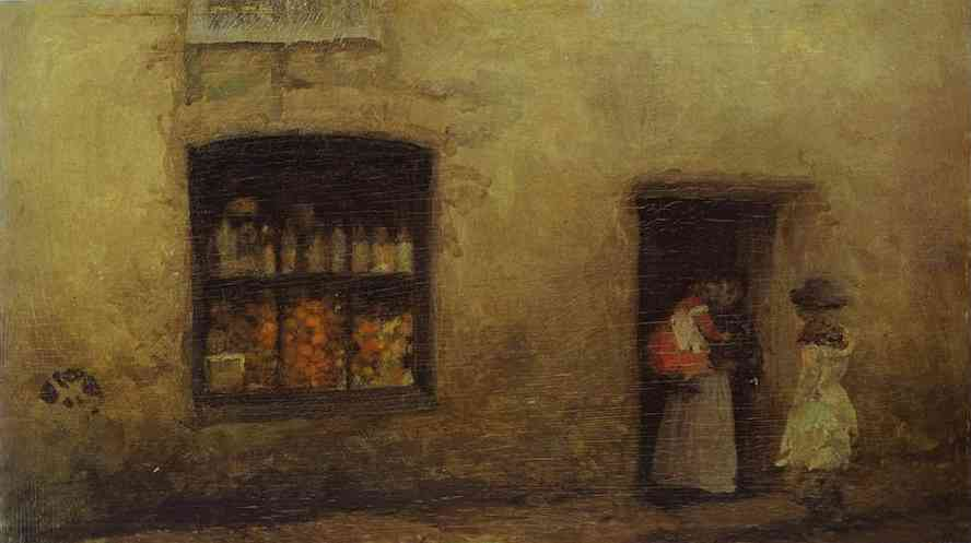 An Orange Note Sweet Shop 1884 | James Abbott McNeill Whistler | Oil Painting