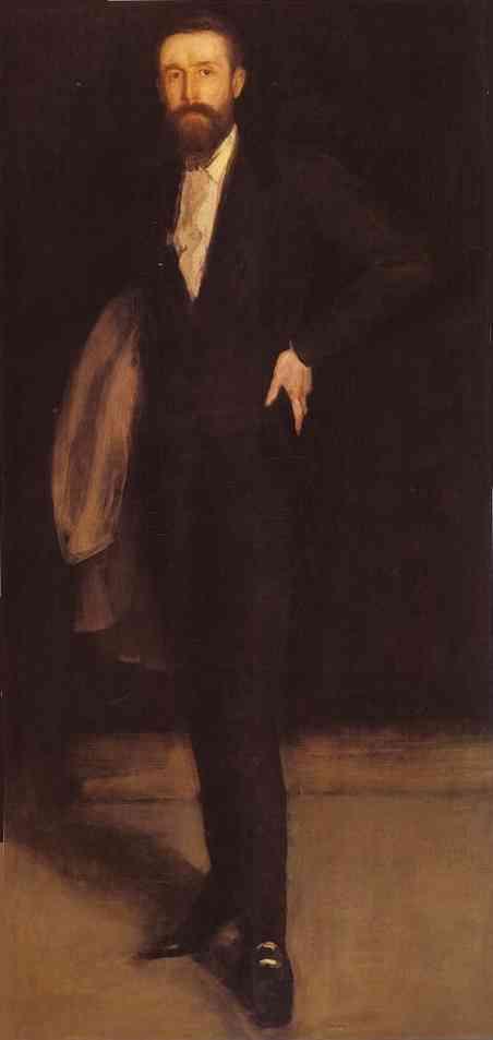 Arrangement In Black Portrait Of F R Leyland 1870 | James Abbott McNeill Whistler | Oil Painting
