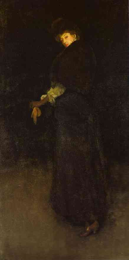 Arrangement In Black The Lady In The Yellow Buskin Portrait Of Lady Archibald Campbell 1882-84 | James Abbott McNeill Whistler | Oil Painting