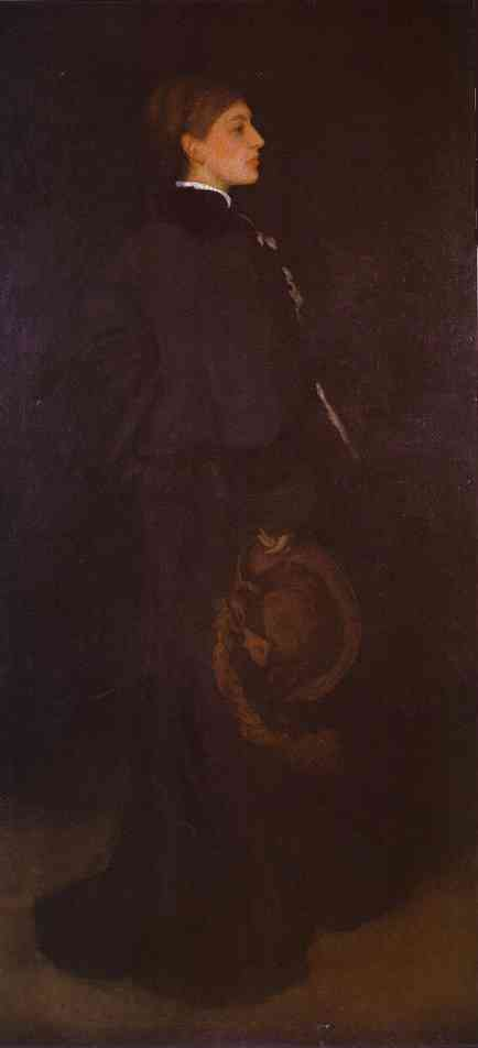 Arrangement In Brown And Black Portrait Of Miss Rosa Corder 1876 | James Abbott McNeill Whistler | Oil Painting