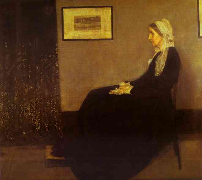 Arrangement In Gray And Black No 1 Portrait Of The Artists Mother 1871 | James Abbott McNeill Whistler | Oil Painting