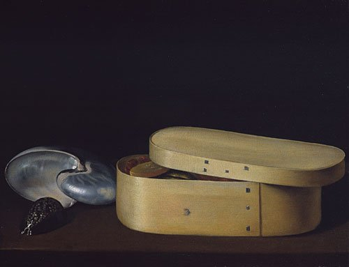 Still Life with a Nautilus Panther Shell and Chip Wood Box ca 1630 | Sebastian Stoskopff | Oil Painting