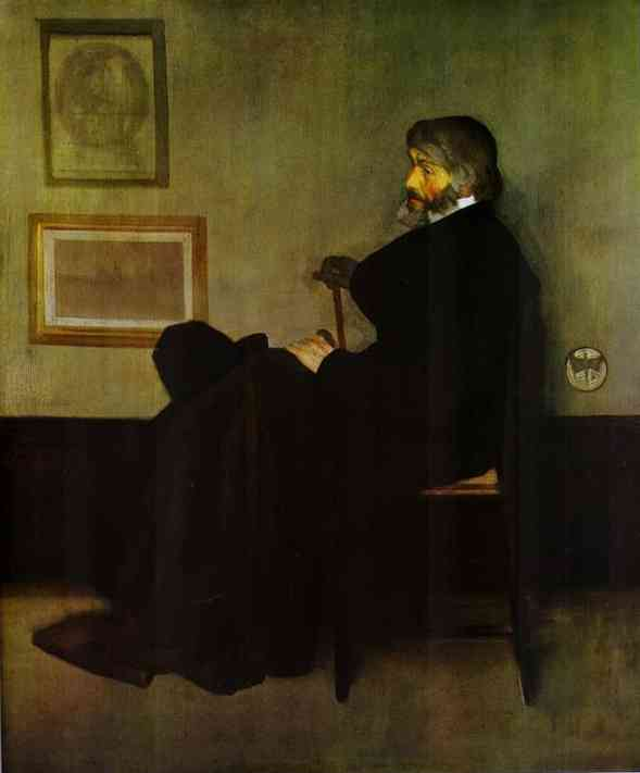 Arrangement In Gray And Black No 2 Portrait Of Thomas Carlyle 1872 | James Abbott McNeill Whistler | Oil Painting