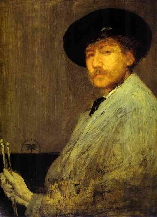 Arrangement In Gray Portrait Of The Painter 1872 | James Abbott McNeill Whistler | Oil Painting