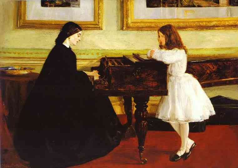 At The Piano 1858-59 | James Abbott McNeill Whistler | Oil Painting