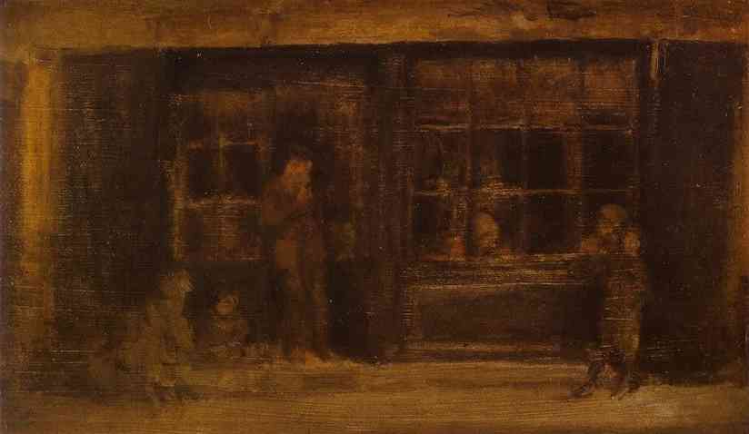 A Shop 1884-90 | James Abbott McNeill Whistler | Oil Painting