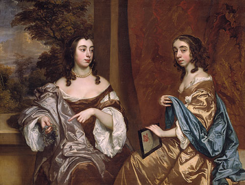 Mary Capel Later Duchess of Beaufort and Her Sister Elizabeth Countess of Carnarvon | Sir Peter Lely | Oil Painting